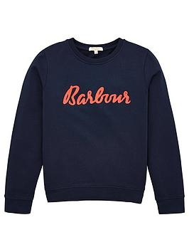 Barbour Barbour Girls Otterburn Crew Sweatshirt - Navy Picture