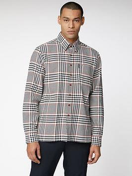 ben-sherman-long-sleeve-heavy-twill-overshirt-smoke