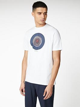 ben-sherman-target-sketch-t-shirt-white
