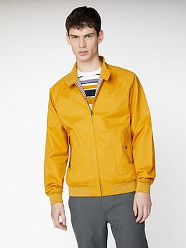 ben-sherman-signature-harrington-jacket-ochre