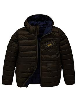 Barbour International Barbour International Boys Ouston Hooded Quilt  ... Picture