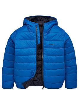 Barbour Barbour Boys Trawl Quilt Hooded Jacket - Blue Picture