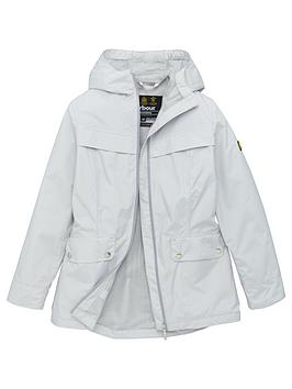 Barbour International Barbour International Girls Hold Hooded Jacket - Ice  ... Picture