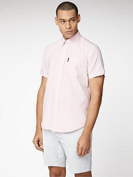Ben Sherman Ben Sherman Short Sleeve Signature Oxford Shirt - Pink Picture