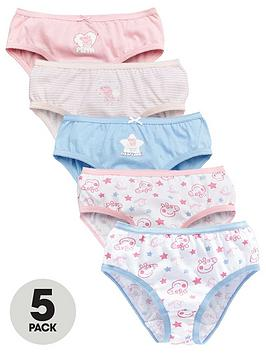 Peppa Pig Peppa Pig Girls 5 Pack Knickers - Pink Picture