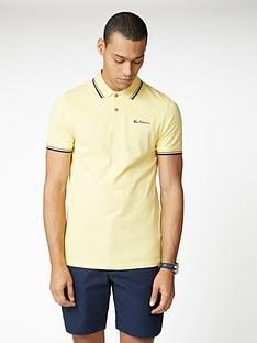 ben-sherman-signature-polo-top-lemon