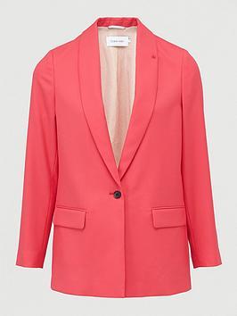 calvin-klein-coloured-suit-long-blazer-pink