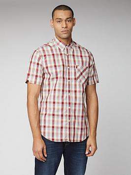 Ben Sherman Ben Sherman Short Sleeve Check Shirt - Red Picture
