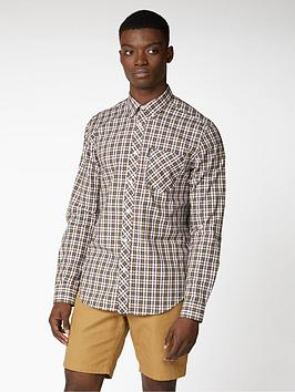 Ben Sherman   Long Sleeve Classic Check Shirt - Dijon