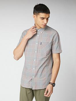 Ben Sherman Ben Sherman Short Sleeve Mixed Scale Check Shirt - Multi Picture