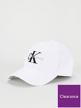 calvin-klein-jeans-monogram-cap-white