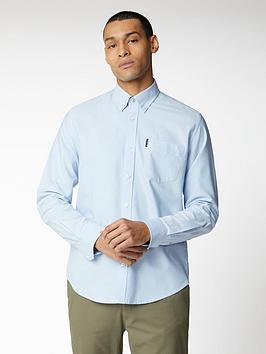 Ben Sherman Ben Sherman Long Sleeve Signature Oxford Shirt - Sky Picture