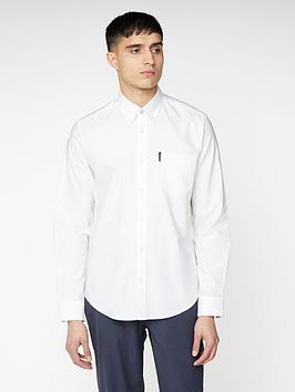 Ben Sherman Ben Sherman Long Sleeve Signature Oxford Shirt - White Picture