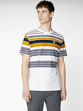 Ben Sherman Ben Sherman Reverse Knit Stripe T-Shirt - Snow White Picture
