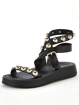 Ash Ash Vox Wedge Sandal - Black Picture