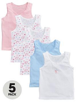 Peppa Pig Peppa Pig Girls 5 Pack Vests - Pink Picture