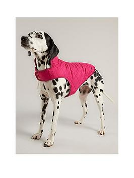 Joules   Raspberry Quilted Dog Coat - Large