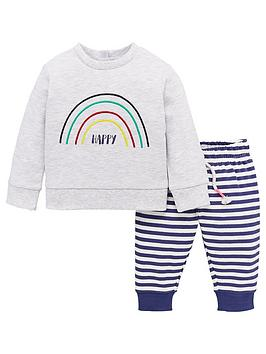V by Very V By Very Baby Unisex Rainbow Jog Set - Multi Picture