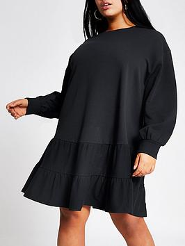 RI Plus Ri Plus Smock Jersey Sweater Dress - Navy Picture
