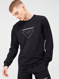 emporio-armani-bodywear-thin-eagle-logo-lounge-sweatshirt-black