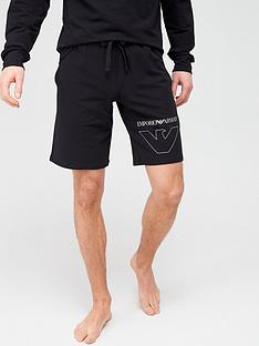 emporio-armani-bodywear-thin-eagle-logo-lounge-shorts-black