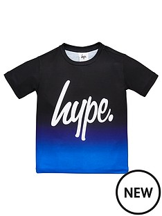 hype-boys-script-fade-short-sleeve-t-shirt-blue