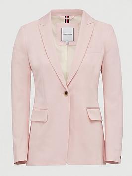 Tommy Hilfiger Tommy Hilfiger Cotton Pastel Suit Blazer - Pink Picture