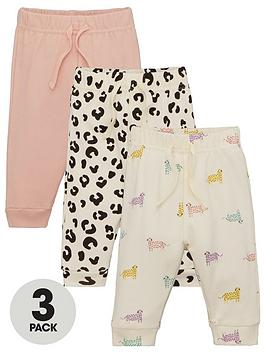 V by Very V By Very Baby Girls 3 Pack Animal Jogger - Multi Picture