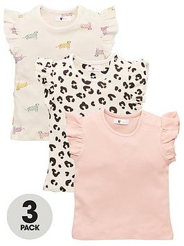 V by Very V By Very Baby Girls 3 Pack Animal Tops - Multi Picture