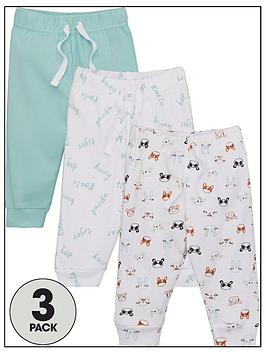 V by Very V By Very Baby Unisex Panda 3 Pack Leggings - Multi Picture