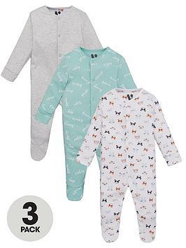 v-by-very-baby-unisex-panda-3-pack-sleepsuits-multi