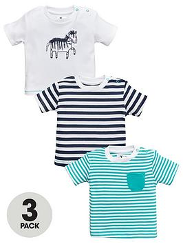 V by Very V By Very Baby Boy 3 Pack Animal And Stripe Tops - Multi Picture