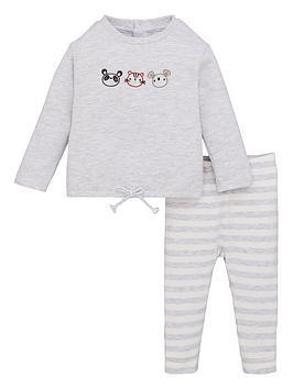 V by Very V By Very Unisex Baby Panda Jog Set - Grey Picture