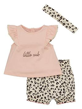 V by Very V By Very Baby Girls 3 Piece Ruffle Animal Set - Multi Picture