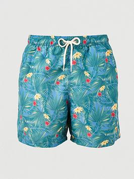 Barbour Barbour Filey Printed Floral Swimshort - Blue Picture