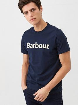 Barbour Barbour Large Logo T-Shirt - Navy Picture