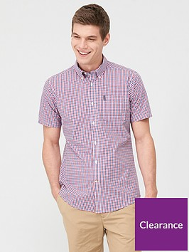 barbour-short-sleeved-gingham-shirt-red