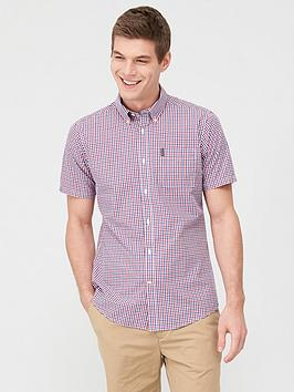 Barbour Barbour Short Sleeved Gingham Shirt - Red Picture