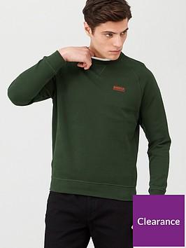 barbour-international-essential-logo-sweatshirt-green