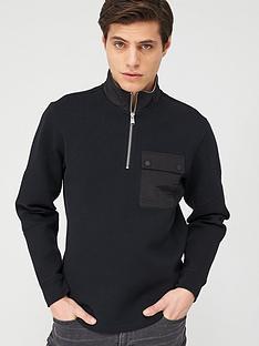 barbour-international-ratio-14-zip-sweatshirt-black