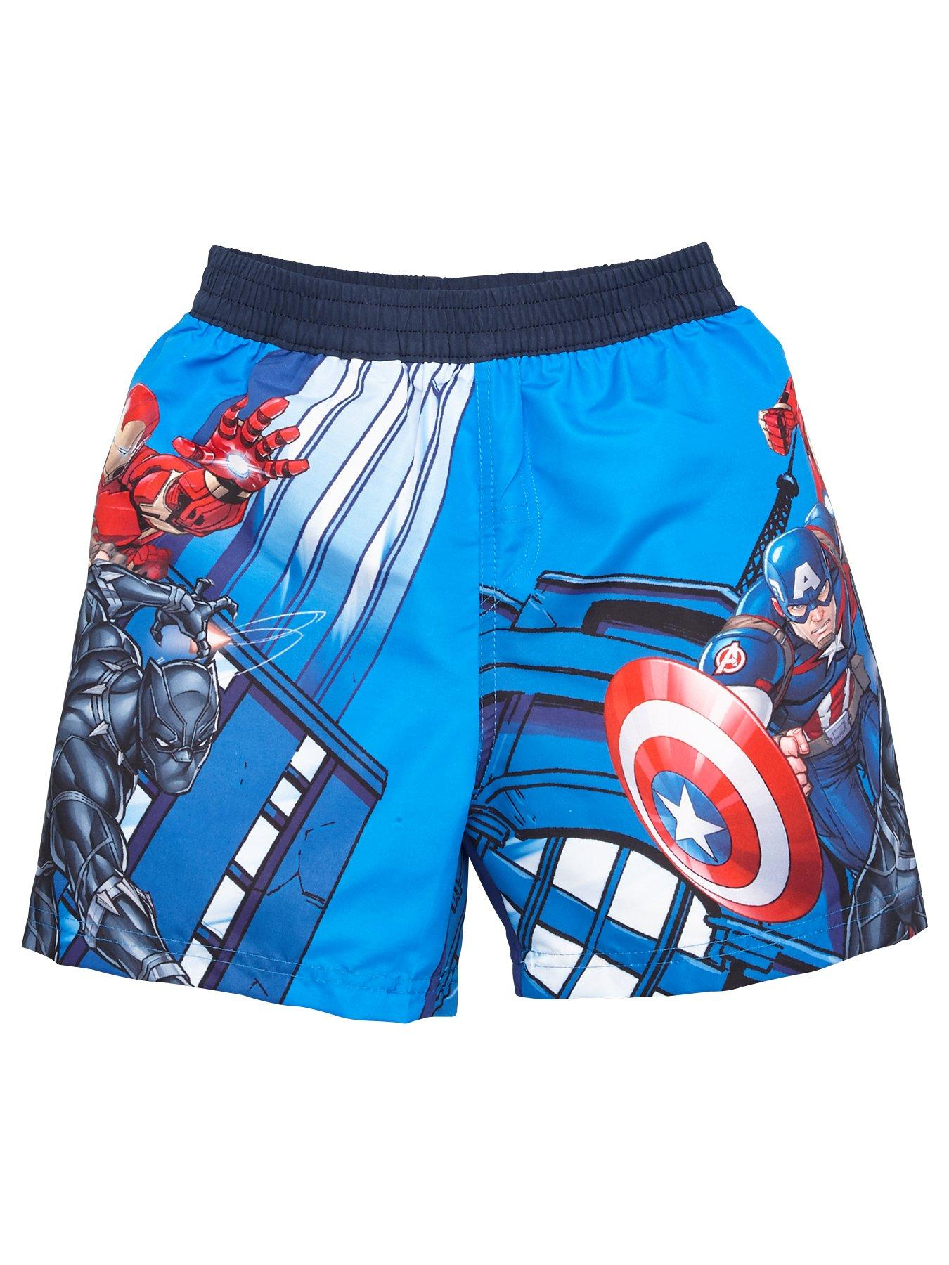 Marvel Avengers Boys Captain America Swimsuit Ages 18 Months to 7 Years