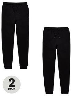 v-by-very-unisex-2-pack-basic-school-jogging-bottoms-black