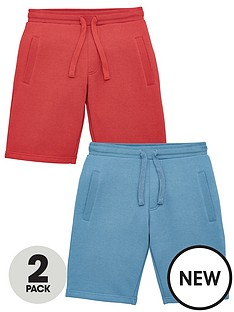 v-by-very-boys-essential-2-pack-jogger-shorts-redblue