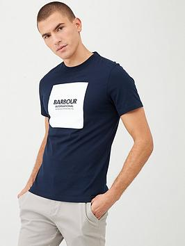 Barbour International Barbour International Block Logo T-Shirt - Navy Picture