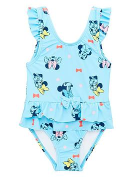 Minnie Mouse Minnie Mouse Girls Swimsuit - Light Blue Picture