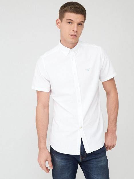 barbour-short-sleeved-oxford-shirt-white