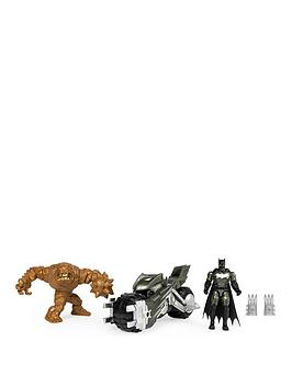 Batman Batman Batcycle Vehicle With Exclusive Batman And Clayface 4-Inch  ... Picture