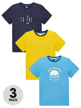 V by Very V By Very Boys 3 Pack West Point Short Sleeve T-Shirts - Multi Picture