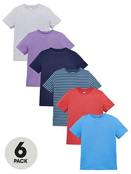 V by Very V By Very Boys 6 Pack Core Short Sleeve Tees - Multi Picture
