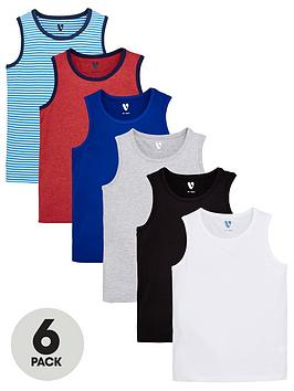 V by Very V By Very Boys 6 Pack Core Vests - Multi Picture